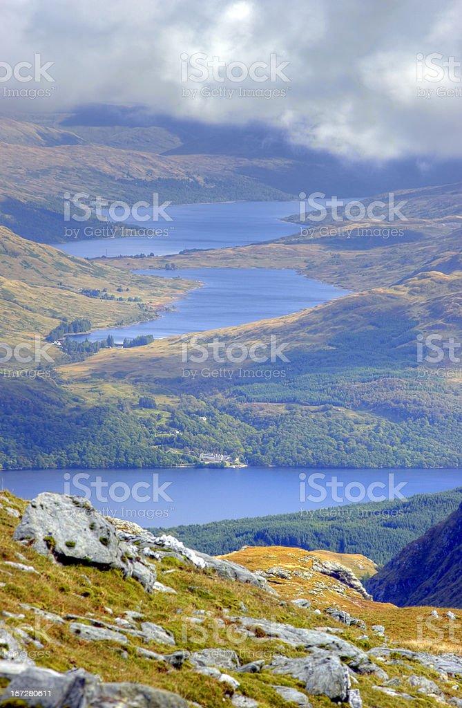 Looking Down On Loch Lomond stock photo