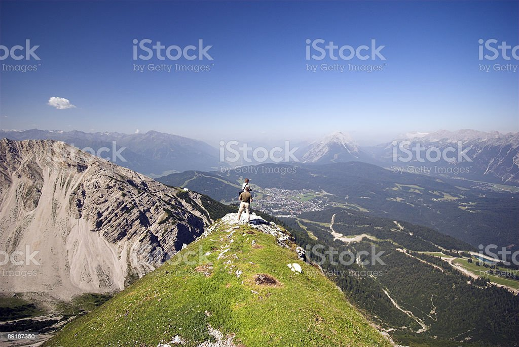Looking Down on Seefeld in Austria stock photo