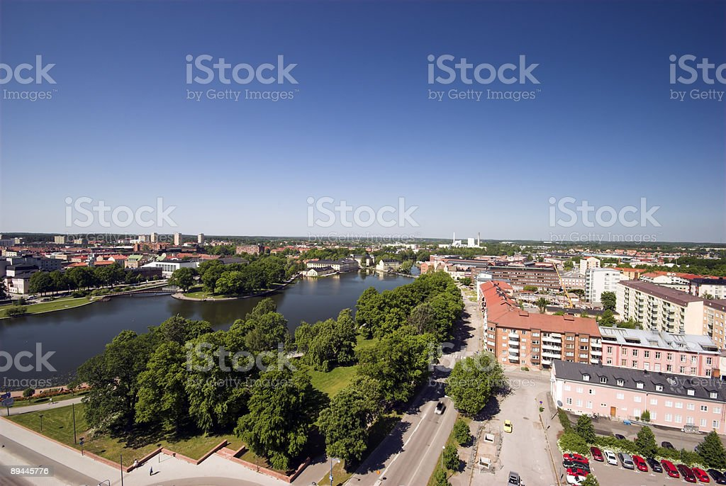 Looking down on Sweden royalty-free stock photo