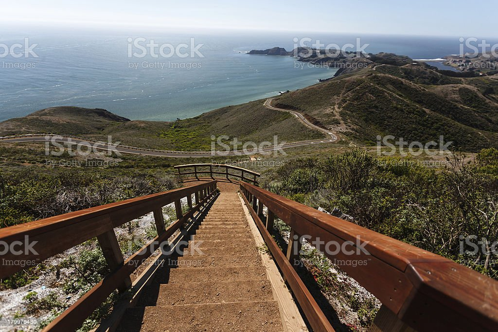 Looking down on the trail to Bonita Point stock photo