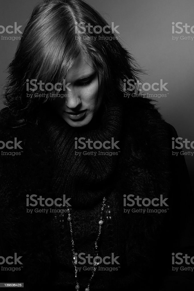 looking down royalty-free stock photo