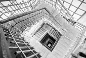 Looking Down the Belfry Stairs