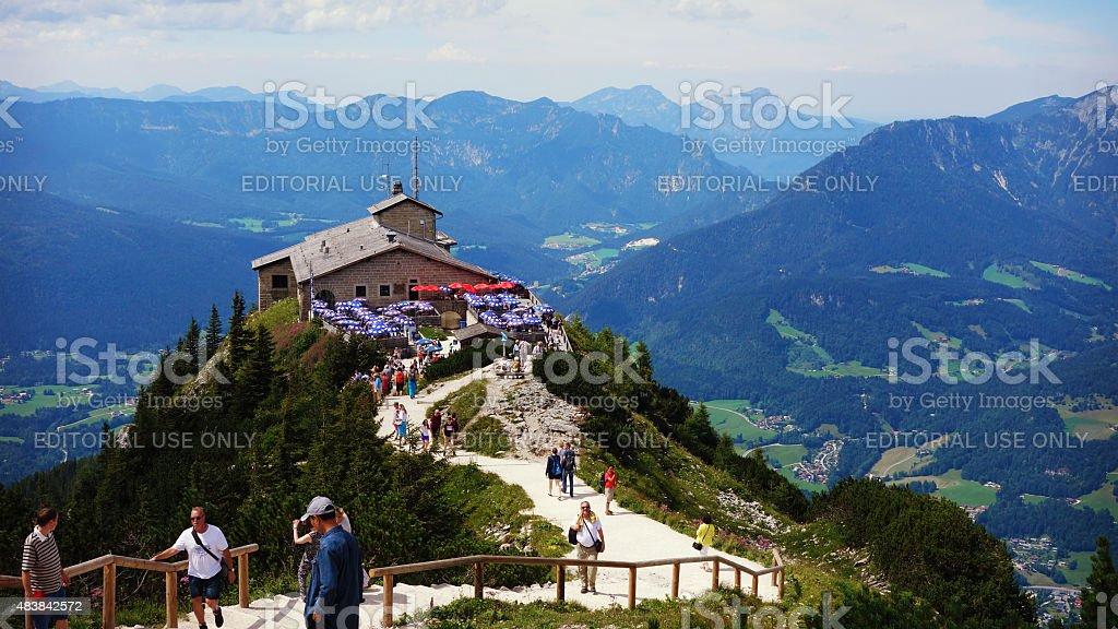 Looking down to Eagle's Nest at Obersalzberg stock photo
