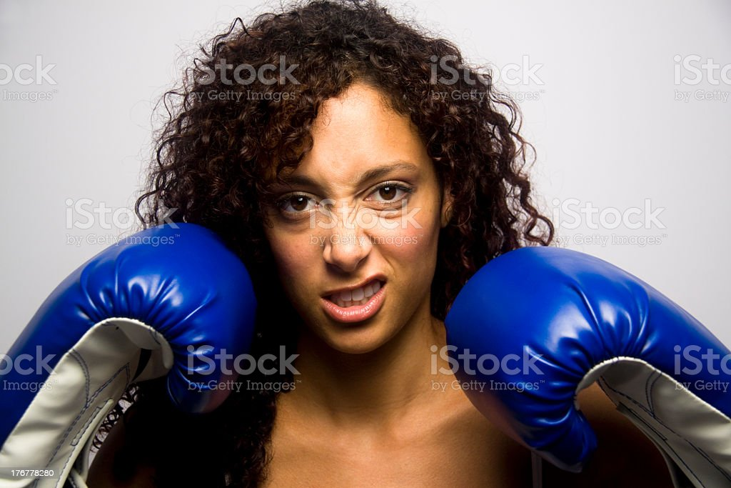 Looking for a Fight royalty-free stock photo