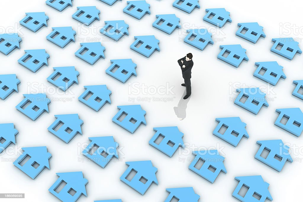 Looking for a home royalty-free stock photo