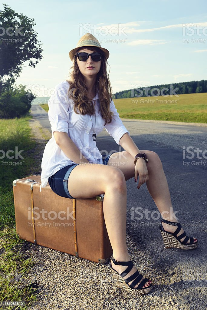 Looking for a ride royalty-free stock photo