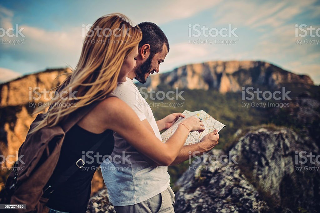 Looking for a right way stock photo