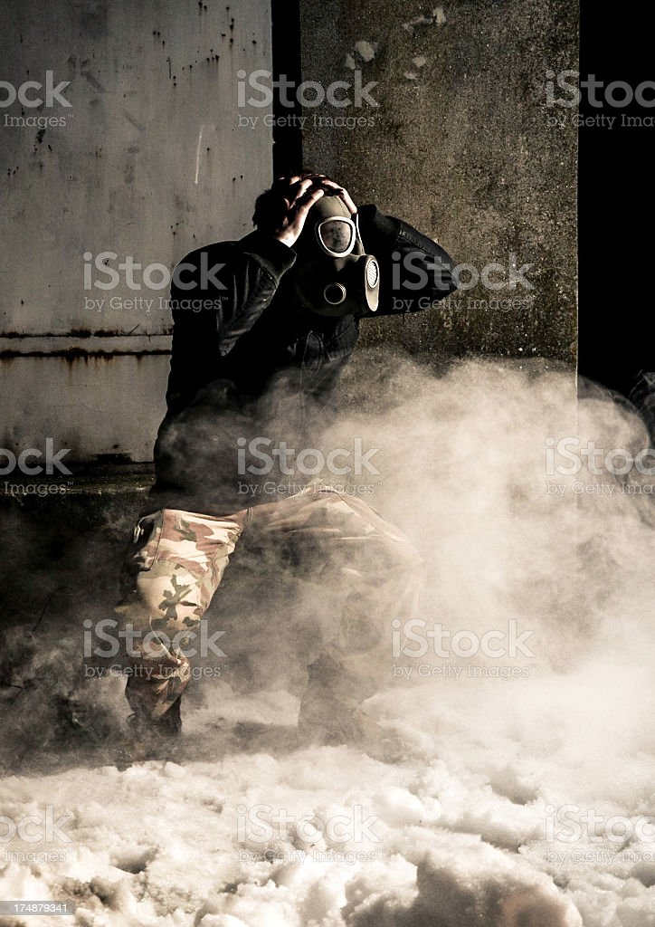 Looking for air royalty-free stock photo