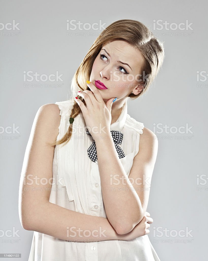 Looking for an idea royalty-free stock photo