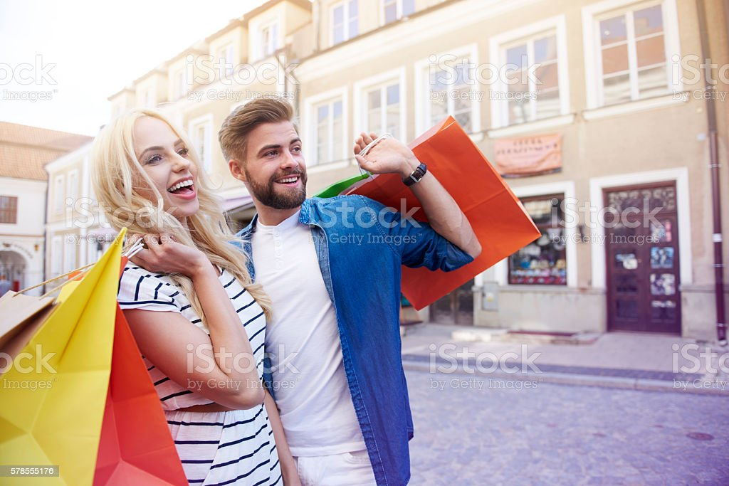 Looking for another shops to enter stock photo