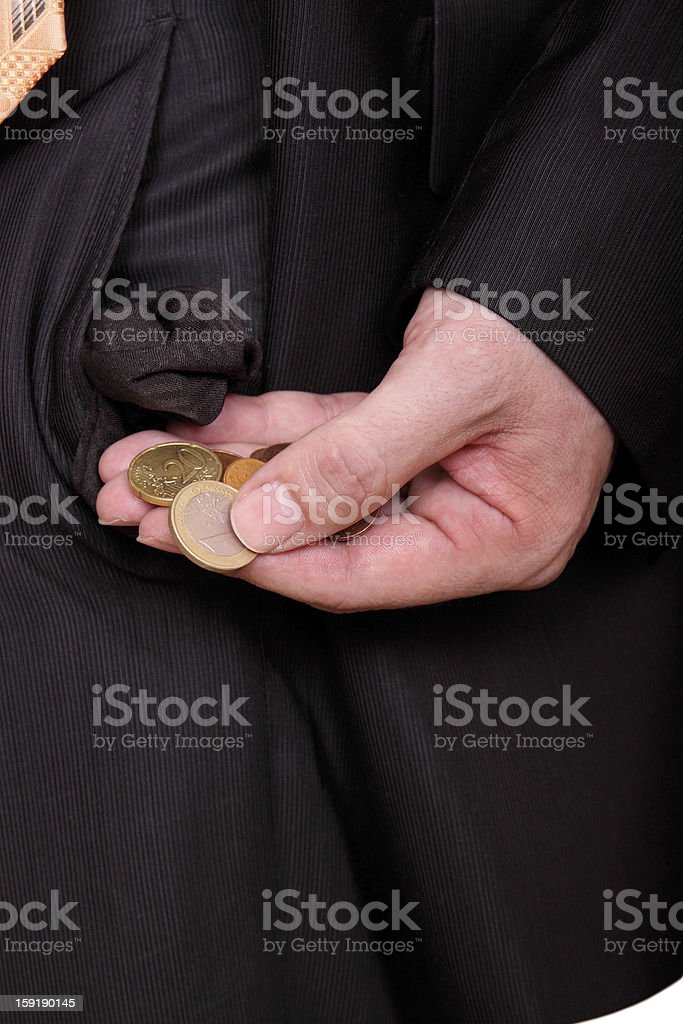 looking for change royalty-free stock photo
