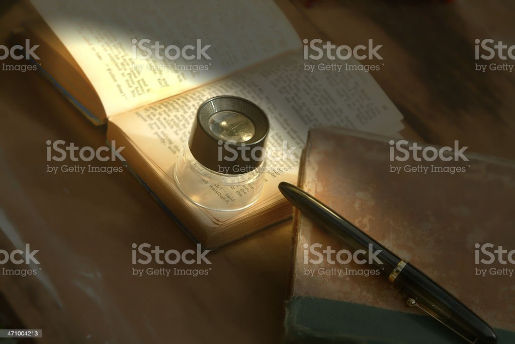 Looking for clues royalty-free stock photo