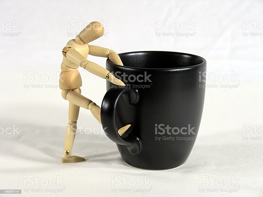 Looking For Coffee royalty-free stock photo
