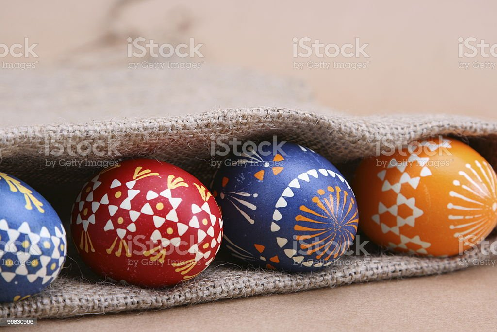 Looking for Colorful Easter Eggs stock photo