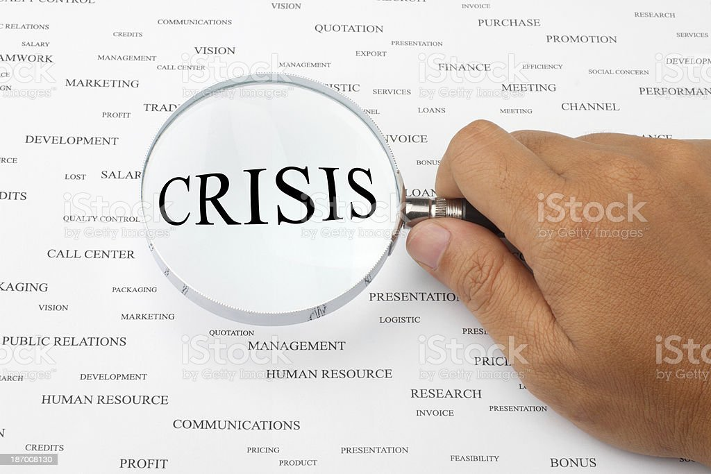 Looking for crisis stock photo
