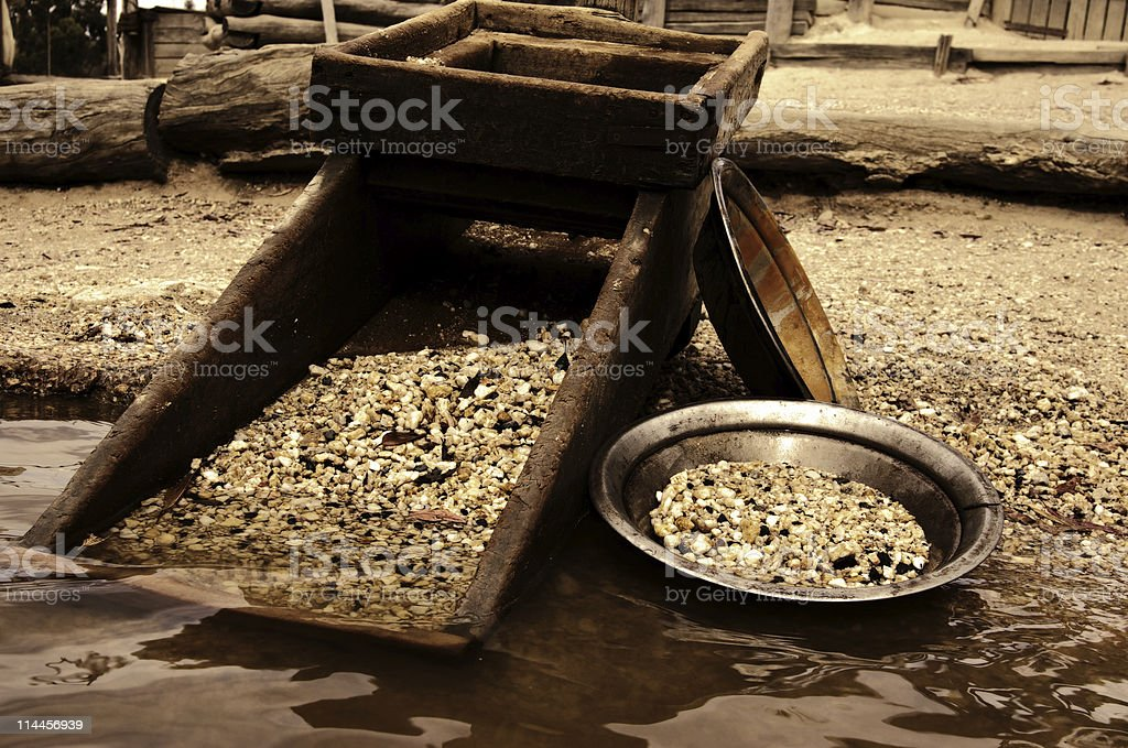 looking for gold stock photo