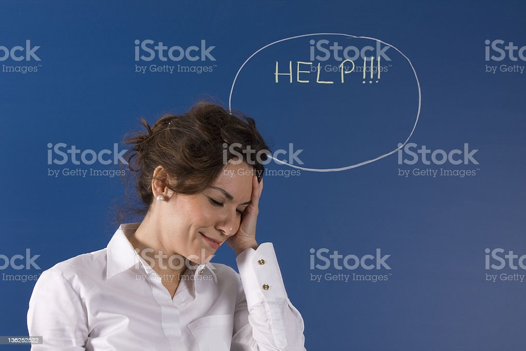 looking for help royalty-free stock photo