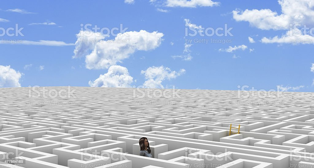 Looking for my escape royalty-free stock photo