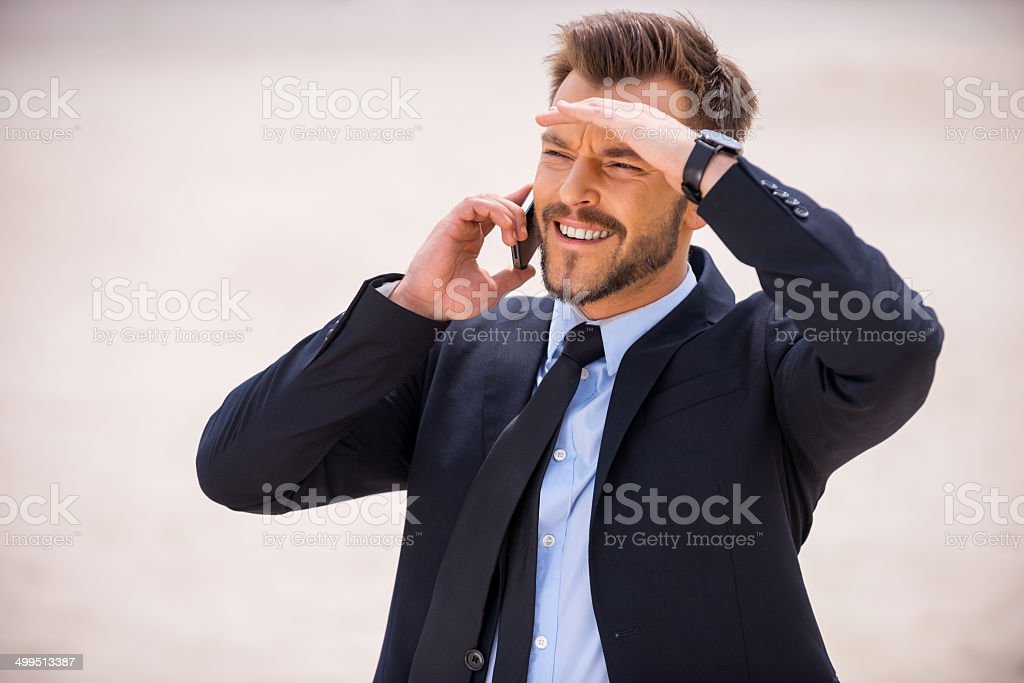 Looking for new solutions. stock photo
