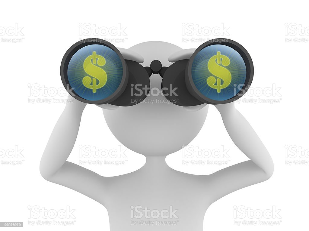 Looking for Profit royalty-free stock photo