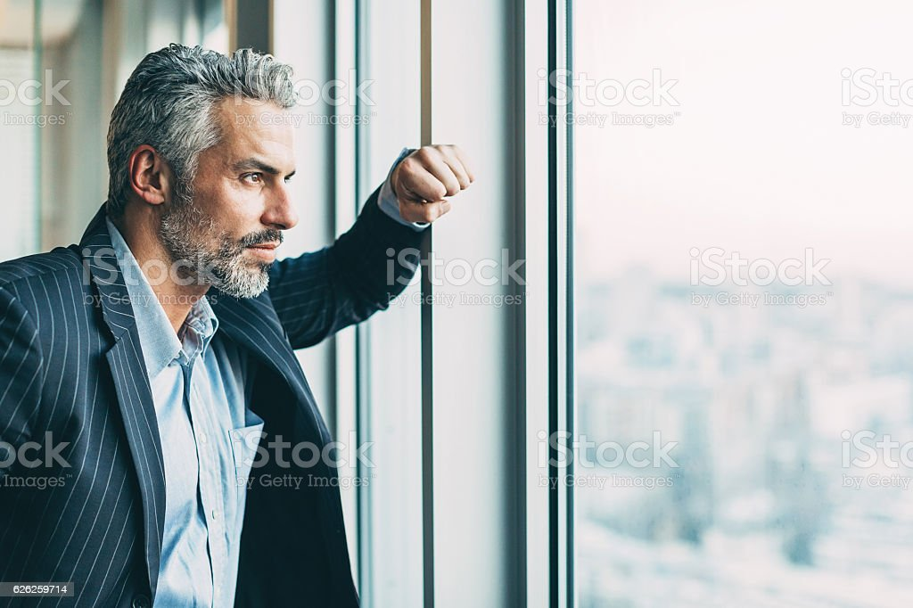 Looking for solutions stock photo