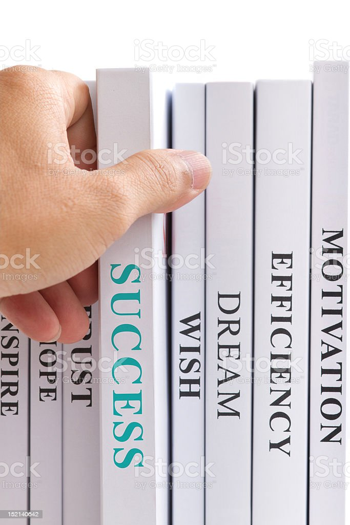 Looking for success. stock photo
