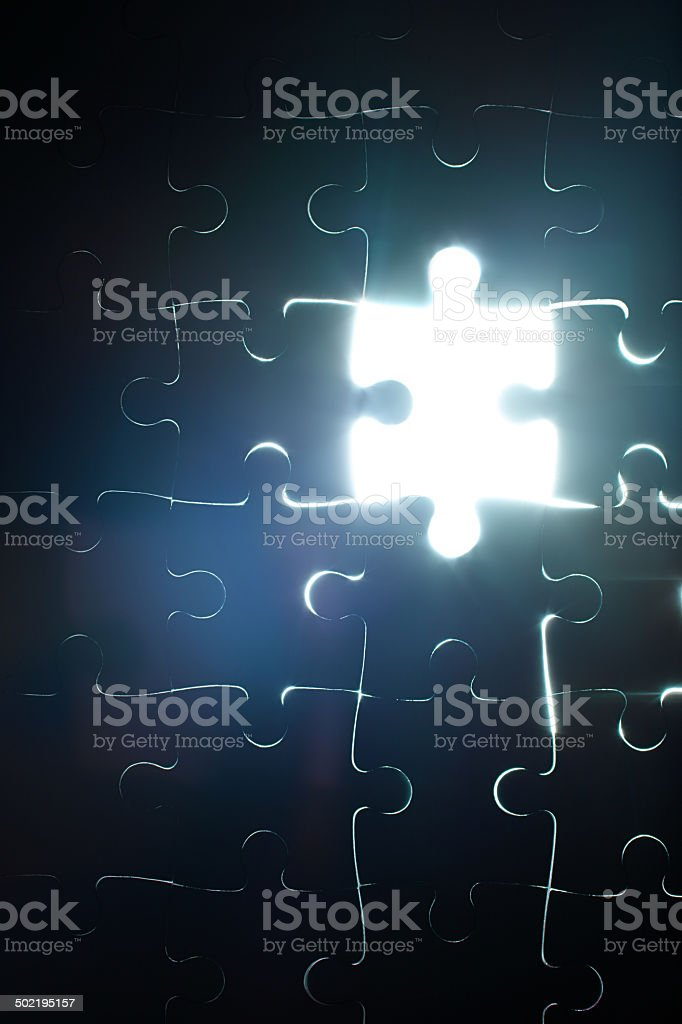 Looking for that final piece royalty-free stock photo