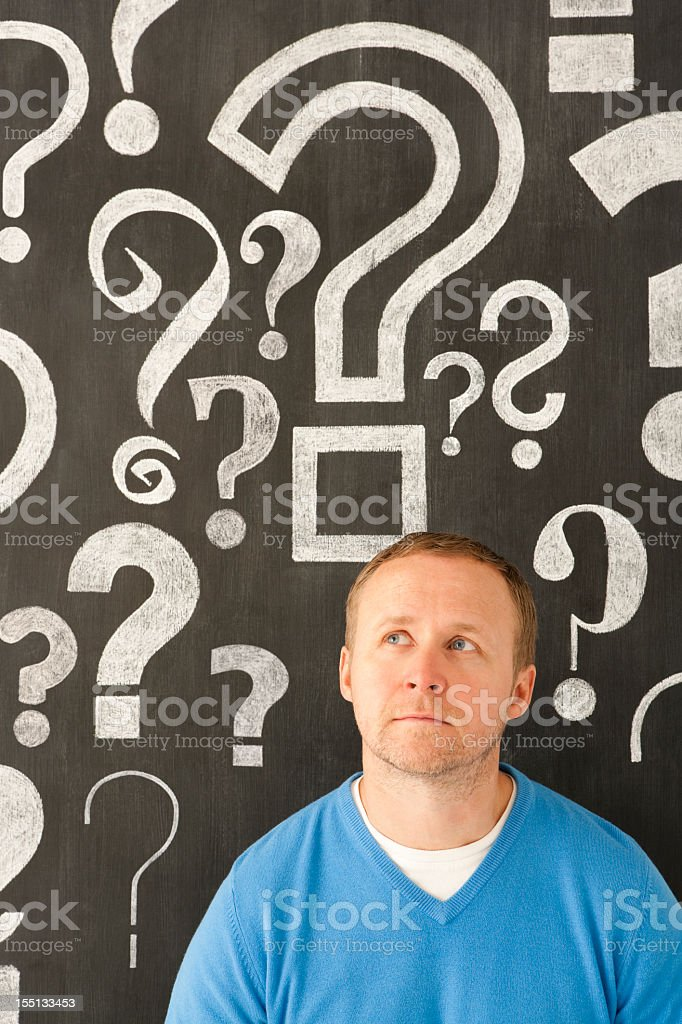 Looking for the answer royalty-free stock photo