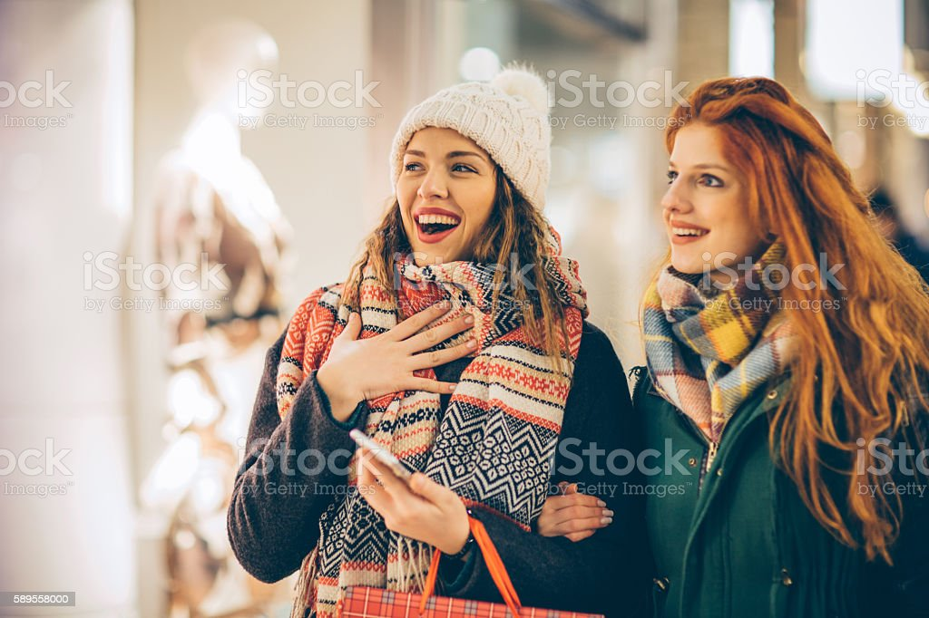 Looking for the perfect outfit stock photo