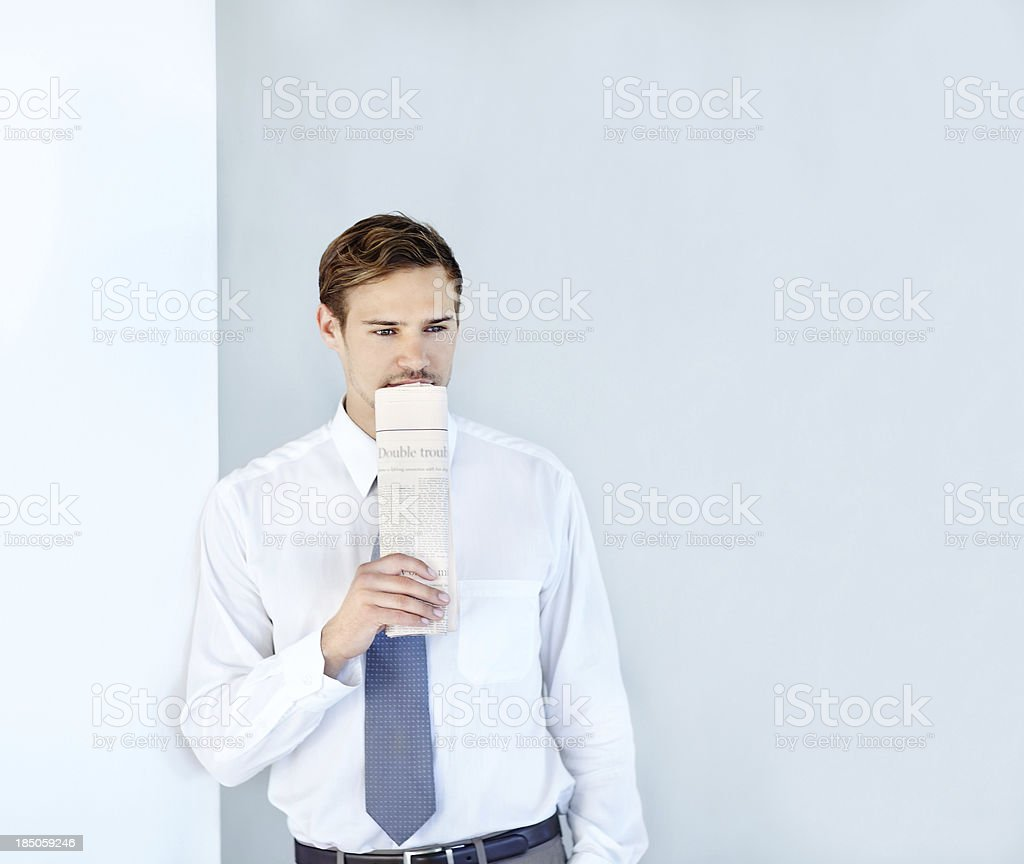 Looking for the right career opportunity stock photo