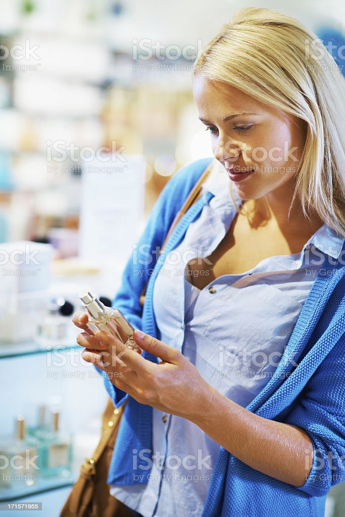 Looking for the right scent! royalty-free stock photo