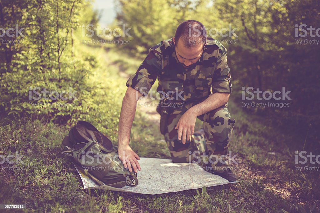 Looking for the right way stock photo