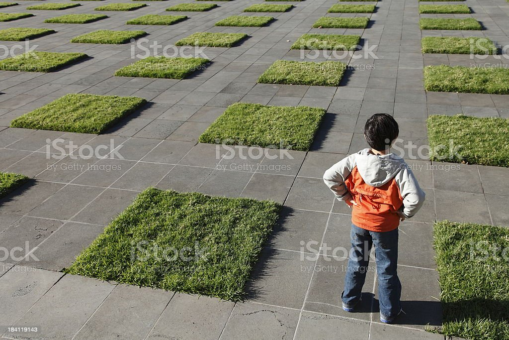 Looking for the Way Forward stock photo