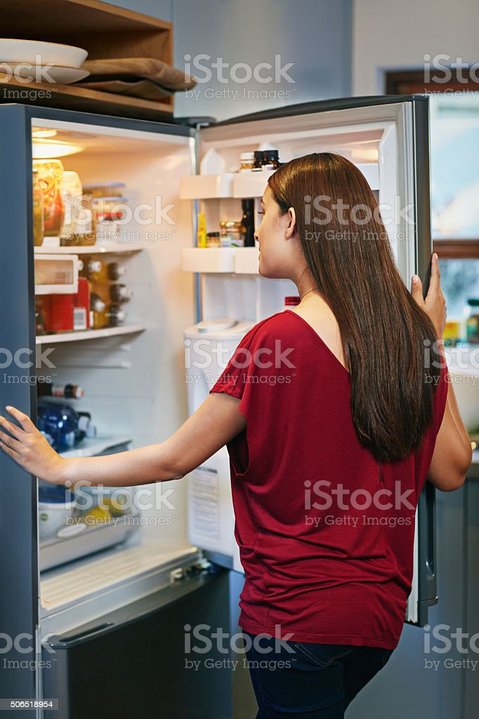 Looking for those perfect ingredients stock photo