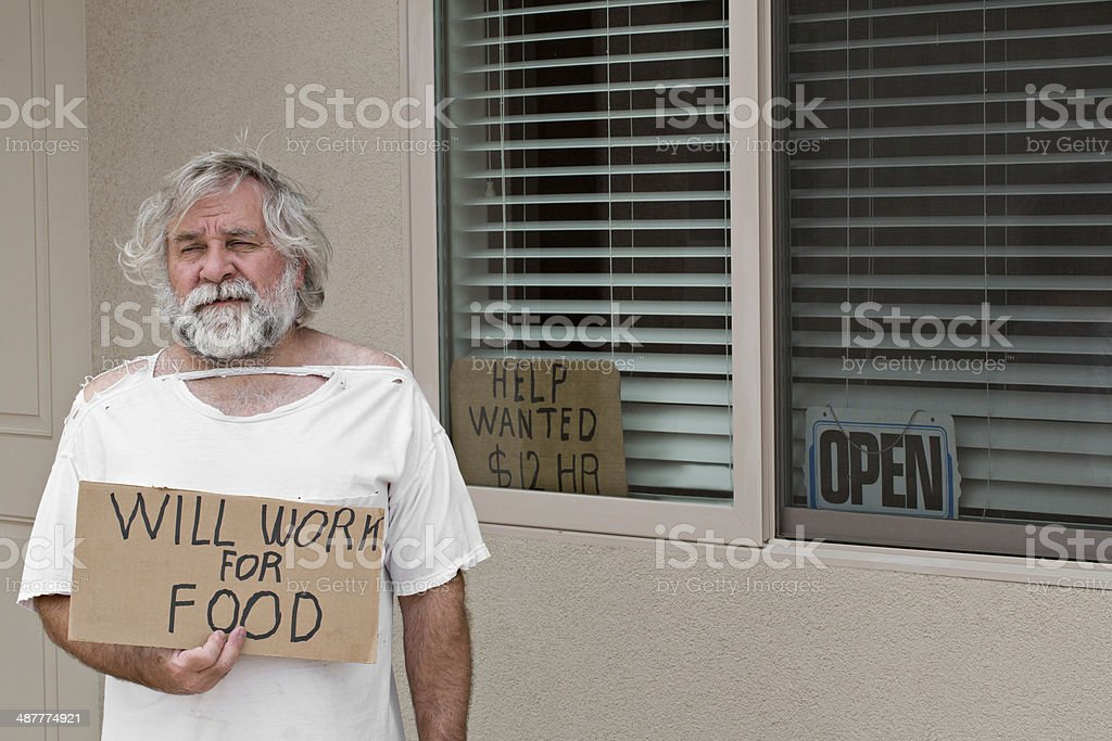 Looking For Work? stock photo