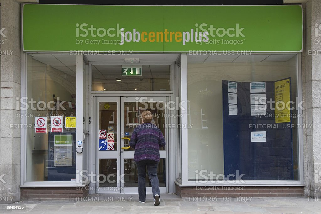Looking for work. stock photo