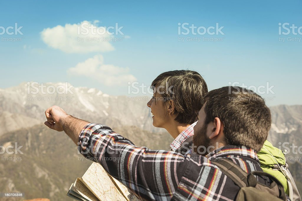 looking forward on mountain royalty-free stock photo