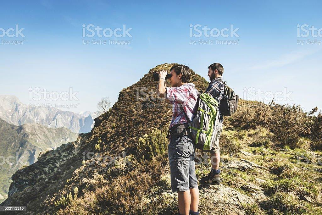 looking forward on mountain royalty-free stock photo