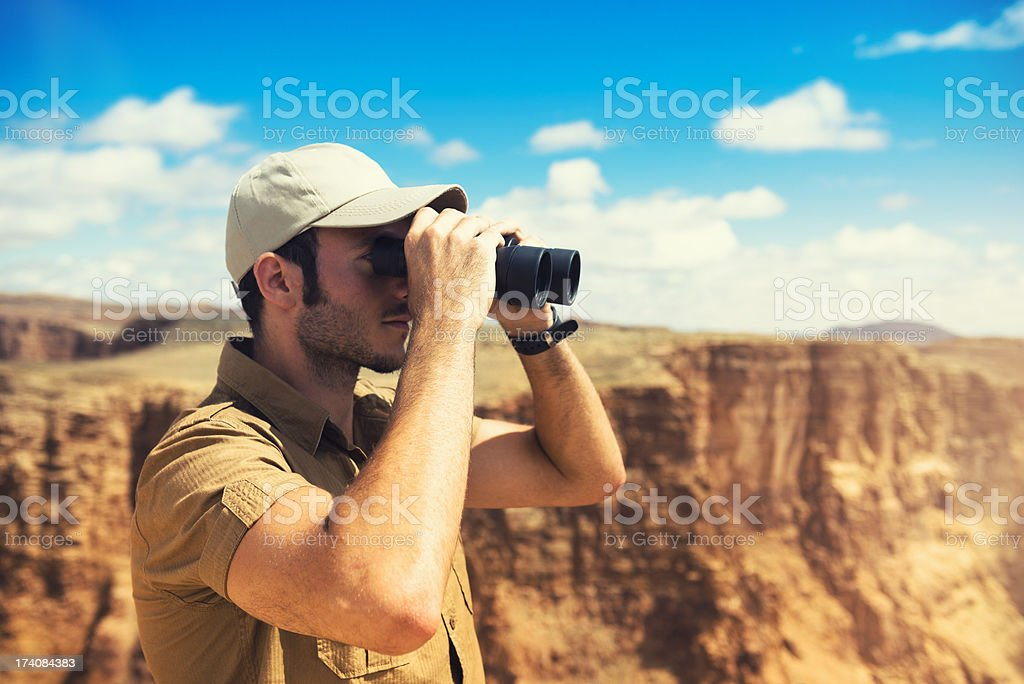 Looking forward on the grand canyon royalty-free stock photo