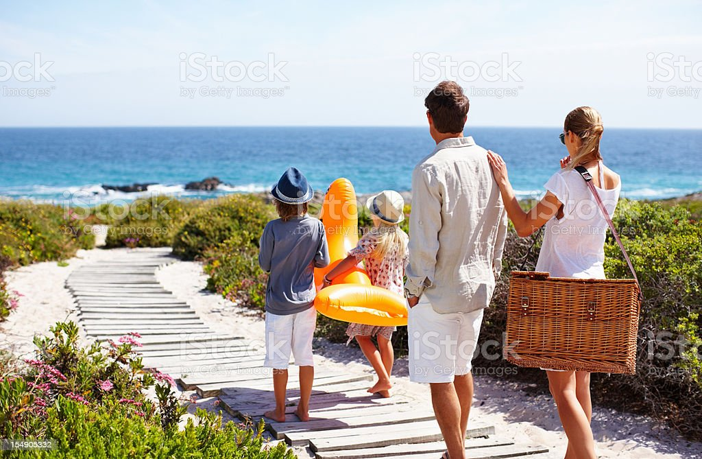 Looking forward to a day at the beach royalty-free stock photo