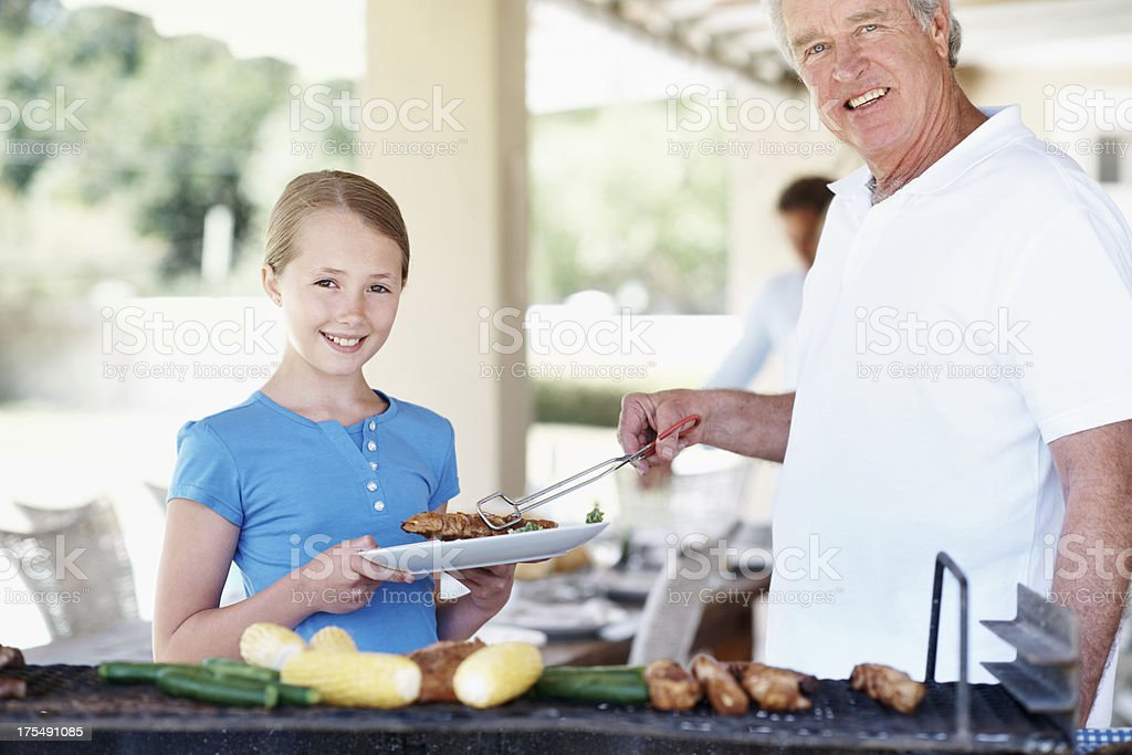 Looking forward to a lovingly prepared meal royalty-free stock photo