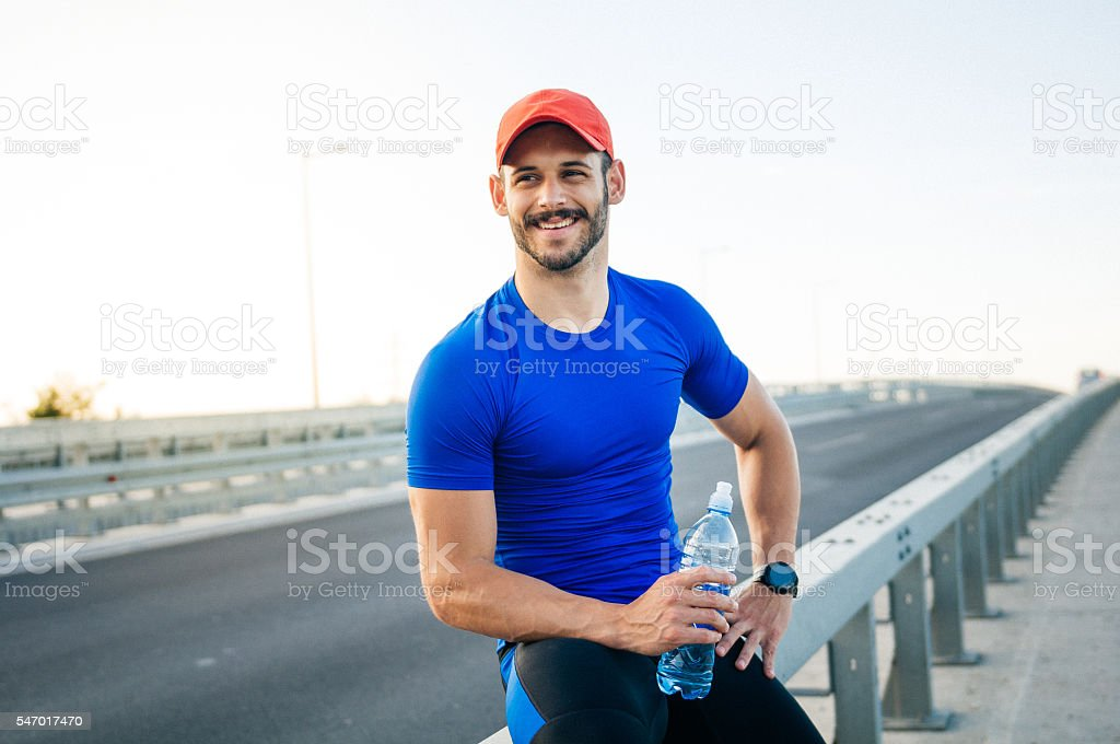 Looking forward to exercises stock photo