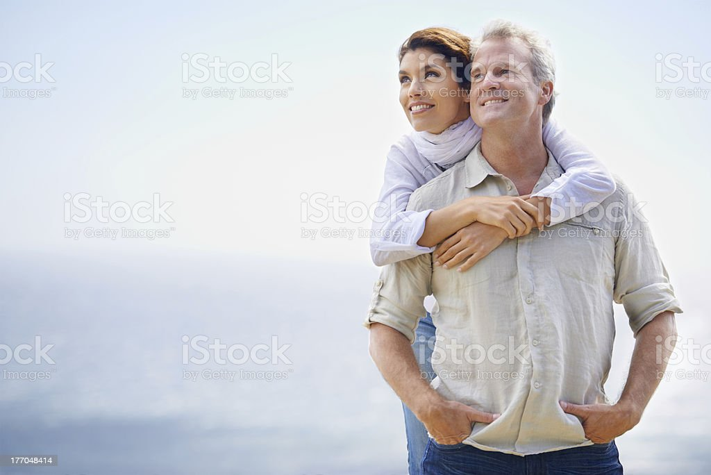 Looking forward to the future together stock photo