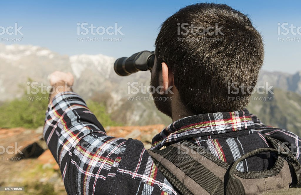 looking forward with the binocular royalty-free stock photo