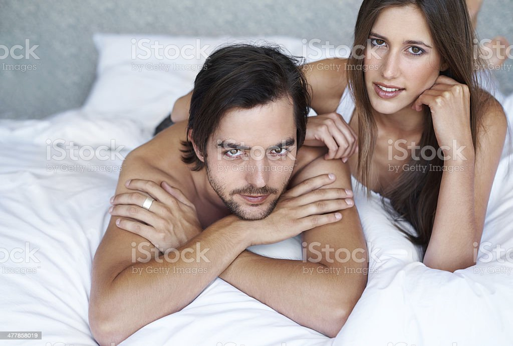 Looking fresh after a good night's sleep royalty-free stock photo