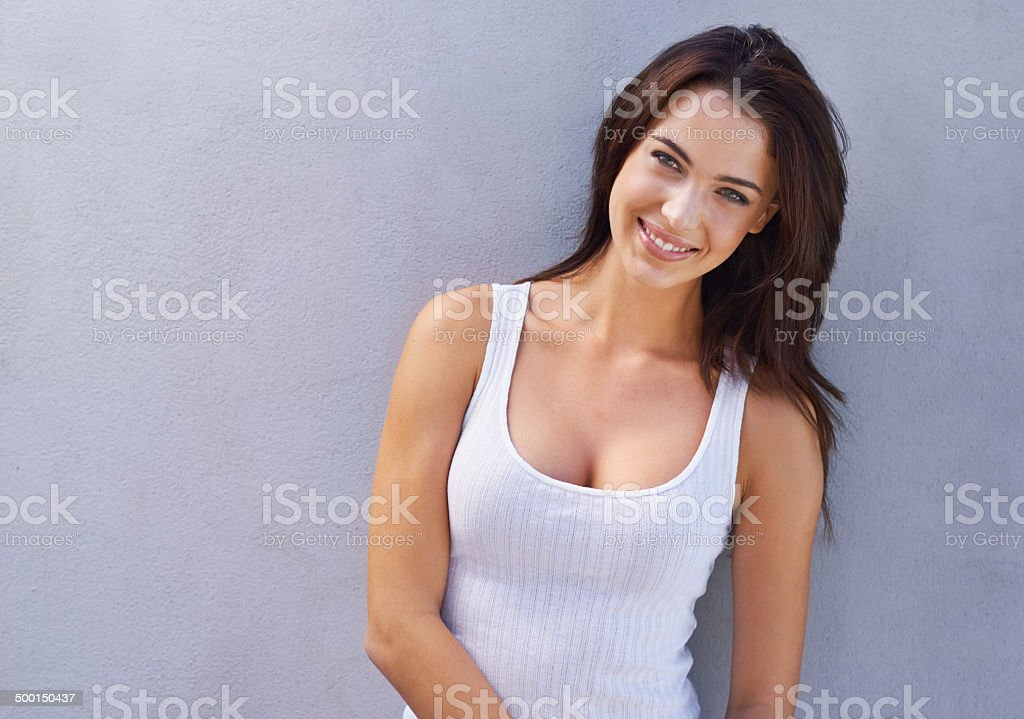 Looking fresh and beautiful stock photo