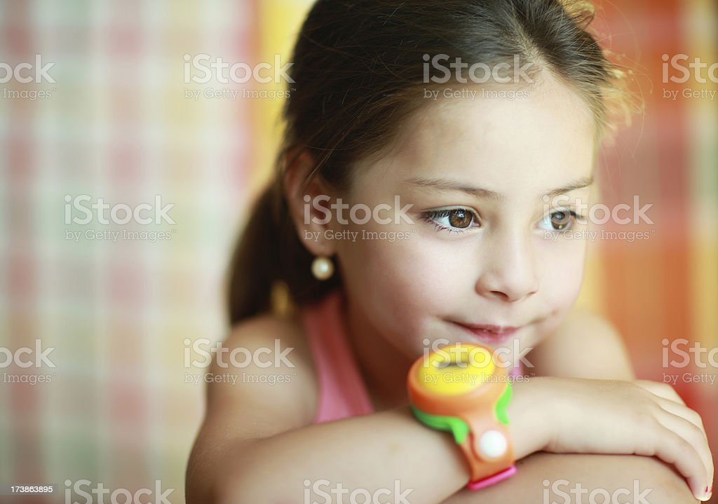 Looking girl royalty-free stock photo