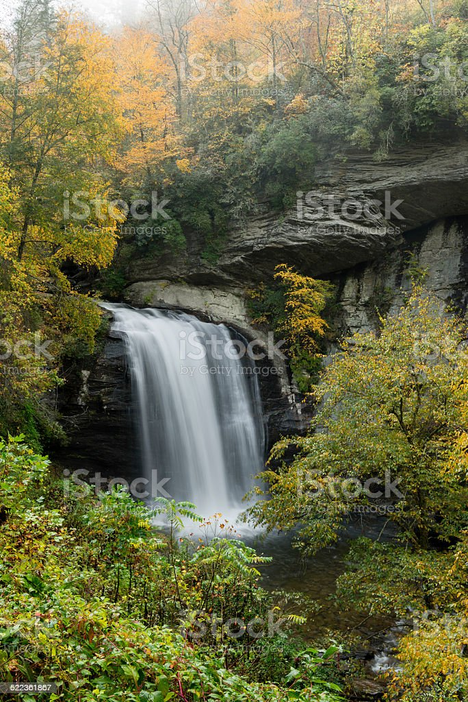 Looking Glass Falls stock photo