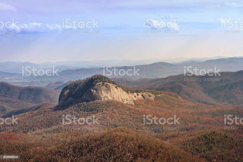 Looking Glass Mountain on Blue Ridge Parkway stock photo