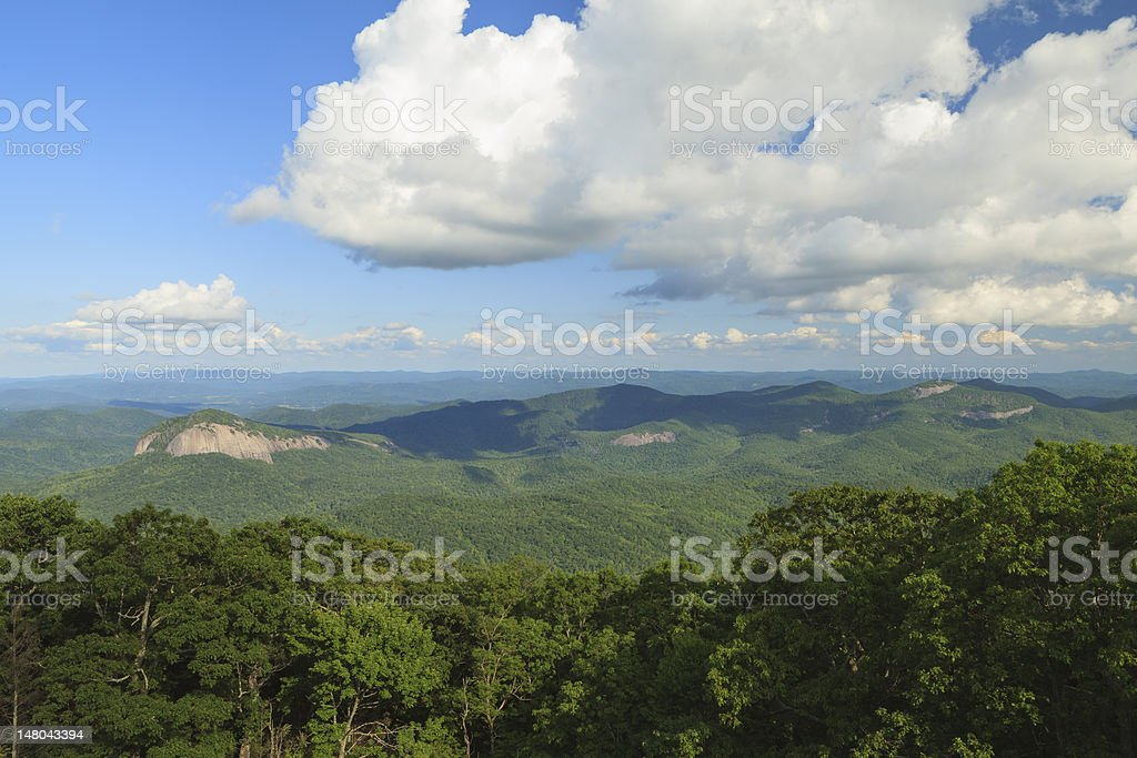 Looking Glass Rock and Pisgah National Forest stock photo